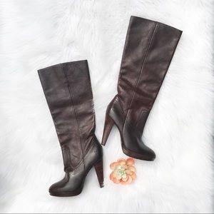 FRYE HARLOW CAMPUS heeled leather boots sz 6